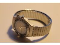 Swatch IRONY aluminium patented water- resistant - Silver