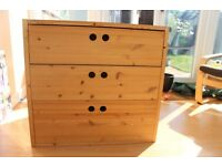 Roomy chest of drawers