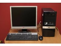 Computer , Monitor, mouse & keyboard.