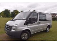 Silver Ford Transit 6 Seater Crew Cab 2007 2.2 No VAT £3295