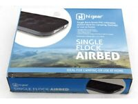 Brand New - hi gear flock covered SINGLE AIR BED - boxed & sealed