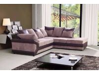 ❋★❋NEW DINO JUMBO CORD SOFA ❋★❋ 3+2 SEATER & CORNER SOFAS IN BLACK AND GREY AND BROWN AND BEIGE