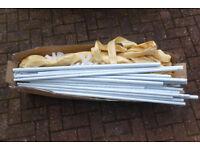 Beige cream 3m x 3m outdoor waterproof Gazebo with sides
