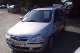 Vauxhall Corsa Life 998cc 74,000miles -2004-04-Plate