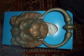 Door Knocker - Lion Head - Brass