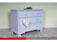 DELIVERY OPTIONS - SHABBY CHIC CHEST OF DRAWERS PAINTED RUSTIC ALL DOVETAIL