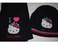 Hello Kitty Hat & Scarf