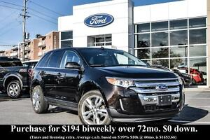 2013 Ford Edge LIMITED AWD - LEATHER - HEATED FRONT SEATS - BLUE