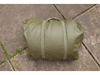 Genuine French Army Issue 2-3 Season Sleeping Bag + Rubberized Poncho Cover