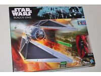 "Star Wars Rogue One TIE STRIKER + Imperial Tie Fighter Pilot 3.75"" Figure (NERF/Hasbro) NEW"