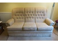 Parker Knoll 2 piece suite (sofa and recliner armchair)