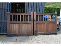 classic teak driveway gates for sale. suit 10' opening