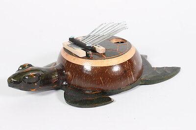 Sehr schöne Kalimba mit 7 Zungen, Schildkröte Daumenklavier Musikinstrument