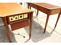 Joblot of 8 Reproduction Serpentine Writing Table office Console Tables with power sockets