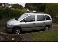 Vauxhall Zafira 1598CC Petrol,7 Seater, Mot till Sept 2017, Tow bar/Bike Rack,Drive away,