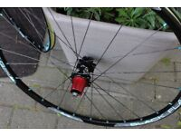 Pair Sun Ringle 26inch mountain bike wheels