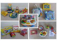 Large bundle of baby / toddler toys - V-Tech, fisher Price, Leap Frog, ELC etc