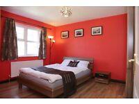 Slider 3 Door Wardrobe + Mirror, 2x Drawer Bedside Table, Wooden Bed Frame