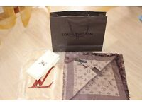 Luxury Louis Vuitton rich coffee colour Scarf /Shawl – brand new