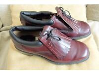 LEATHER Golf Shoes with Leather Soles, size 8, As New, Histon