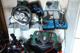 Assorted game controllers