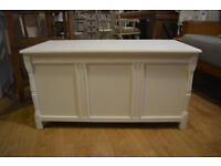 Large Wooden Painted Blanket Box