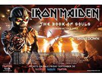 1 x Iron Maiden Standing Tickets Cardiff Arena 24/05/17