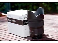 Sigma Art Lens - 35mm 1.4 Nikon Mount