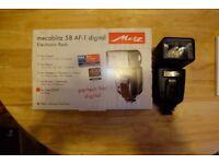 Metz 58 AF-1 Digital Flashgun (Sony) in excellent condition