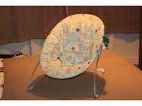 Baby Rocker Chair: light blue - secure strap - decent condition