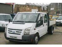 FORD TRANSIT 100 T-250 DOUBLE CAB TIPPER - 08-Reg