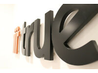 Shop Sign Lettering, 3D Sign Letters, ready to fit DIY kit via mail order