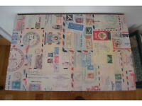 Cute shabby-chic coffee table with vintage postcard decoration
