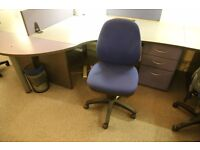 6x Blue Office Chairs