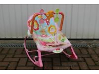 Fisher Price Pink Baby Rocker to Toddler Chair