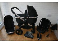 iCandy Peach 3 Magic Black pram travel system 3 in 1 CAN POST