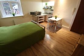 BILLS INCLUDED! SUPERB REFURBISHED LARGE DOUBLE GARDEN STUDIO NR ZONE 2 TUBE, TRAIN, 24 HOUR BUSES