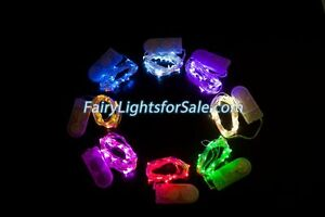 LED wire battery operated fairy string lights wedding EDM party