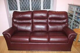 G Plan Malvern Leather Three Piece Suite - 8 year warranty