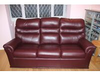 Used, G Plan Malvern Leather Three Piece Suite - 8 year warranty for sale  Berkshire