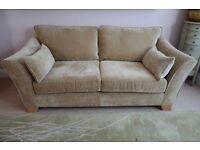 Nearly new three seater sofa