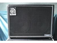 "Ampeg SVT 2x10"" 200W Bass Speaker Cabinet - Genuine Made in USA + Cover - Nice Condition"
