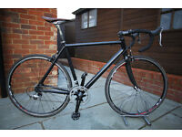 Raleigh black Rat Carbon/Aluminum 56cm Road Racer - Fully rebuilt and Serviced - 2 x 9 speed