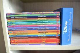 20 Disney books & audio cd