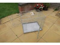 "Ellie-Bo Deluxe Extra Strong 2 Door Dog Crate Height 20"" x length 24"" x width 18"" Silver"