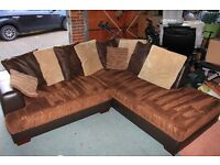 Corner Sofa good condition with a few marks on the arm measuring 220cm x 100cm