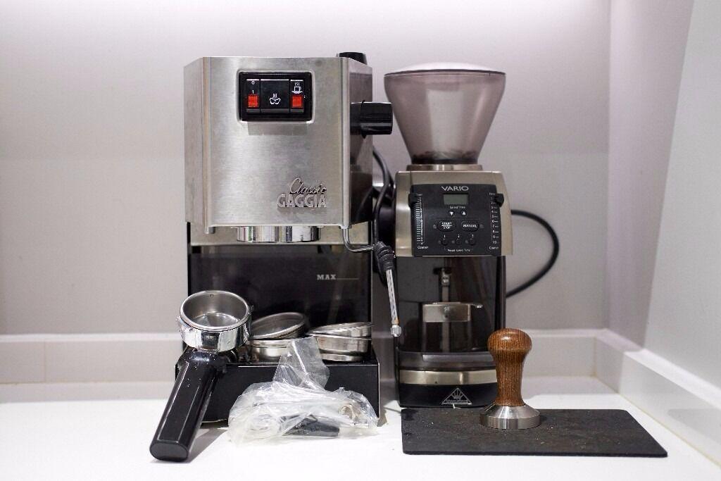 Gaggia Classic expresso/ coffee machine (2015) + Mahlkonig Vario ...
