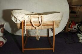 Wicker Moses Basket with stand