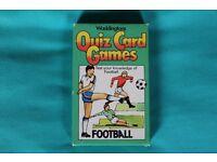 Waddingtons's Football Quiz Cards Game.