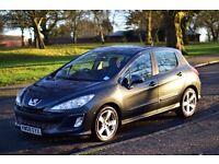 "Peugeot 308 Sport 1.6HDi Diesel 2008 5 Door 17"" Alloy Wheels 6 Speed Manual MP3 Player JBL Sound Sys"